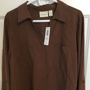 Brown ladies blouse. Size L